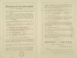 Advert For Bovril reverse(014EVA000000000U07517V00)